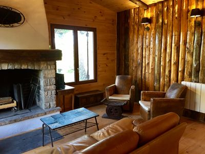 Photo for Fully renovated chalet with terrace and fireplace, pool and tennis access
