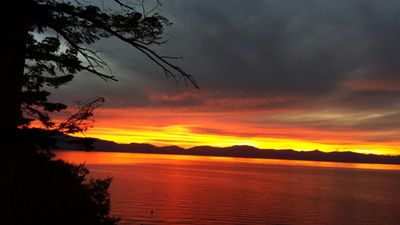 Your sunset on the deck of awesome Lake Tahoe!