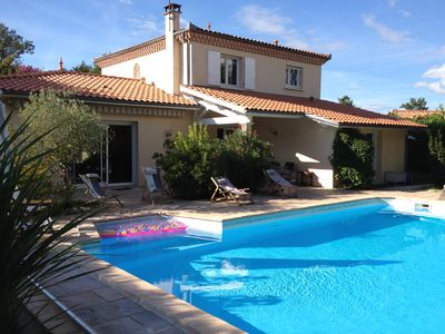 Photo for VILLA 180 M² / 8 PERS, PRIVILEGED FRAME, POOL AND OCEAN BETWEEN BORDEAUX