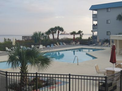 Photo for WATERFRONT  Location - Steps to Beach & Pool - King Bed - WIFI - COUPLES.