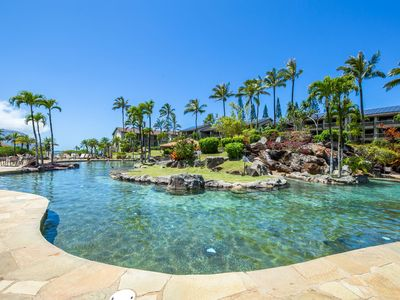 Photo for Hanalei Bay Resort 8133/4-Bay view 2br/2ba, A/C, communal pools, hot tub, bbqs