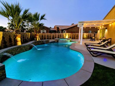 Photo for NEW: Golf Course Home. Pool Fence. Gated. Private Pool/Spa 4 BR 3 BA