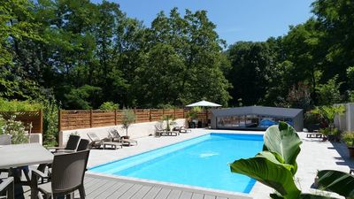Photo for 12x5m shared heated pool, 3 gites, stunning gardens, games room, massage