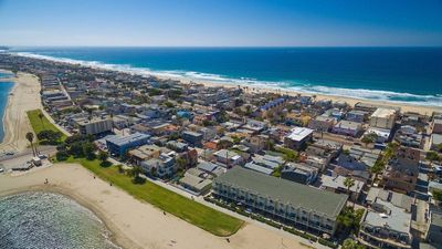 Mission Beach is a narrow strand of land between the ocean and bay. Fun Fun Fun!