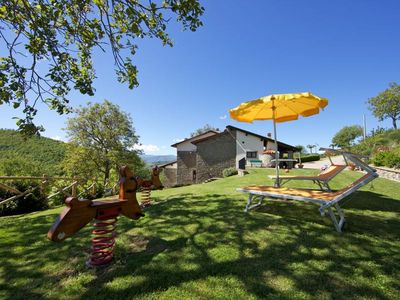Photo for Villa with private pool divided on 2 apartments near Stia. Casentino Valley