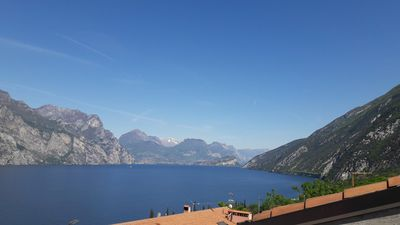 Photo for Penthouse with terrace overlooking Lake Garda in Malcesine (VR)