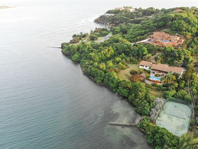 Photo for #1 in Grenada! PRIVATE 2-Acre Waterfront Retreat w/ Tennis Court, Housekeeping!