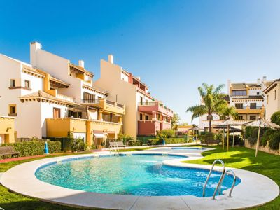 Photo for 2 bedroom Apartment, sleeps 5 with Pool and Air Con