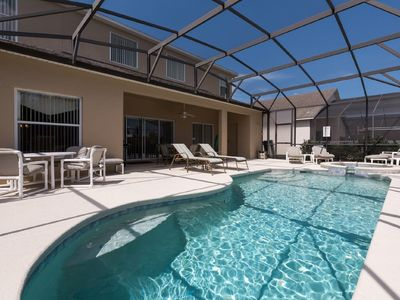 South facing pool and spa with extended sun deck