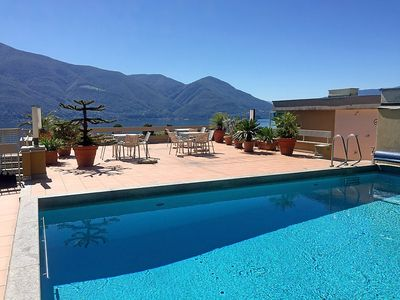 Photo for Apartment 1.1 km from the center of Ascona with Internet, Pool, Terrace (50695)