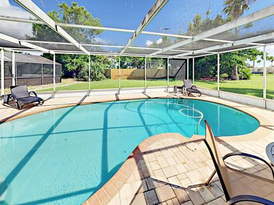 Photo for Exclusive Waterway Access! 2BR w/ Dock & Private Saltwater Pool