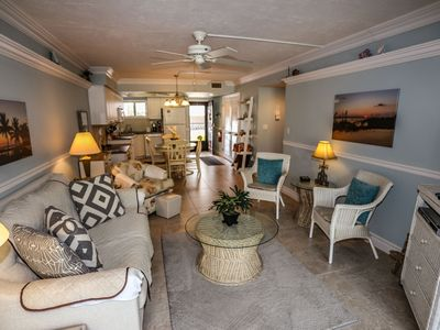 Photo for Kona Beach #110 is a ground floor, beachfront condo located on the north end of Fort Myers Beach.