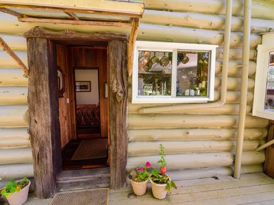 Photo for Old-timey comfortable log cabin overlooks Buckhorn Cove