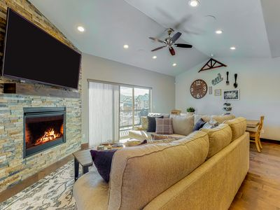 Photo for NEW LISTING! Newly built townhome w/ 8 person hot tub, close to skiing & town