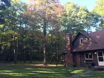 Photo for Quiet cabin in a perfect location; close to skiing, hiking and biking trails.