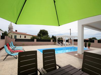 Photo for New with private pool + sea view, 9 person