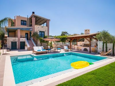 Photo for Vacation home Mournies Luxury Villa in Chania - 6 persons, 3 bedrooms