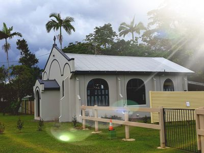Photo for Beautifully restored chapel, luxury stay only 2 minute walk to Paronella Park