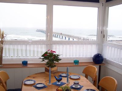 Photo for Comfort-beach apartment with amazing view of the sea in the 1st row