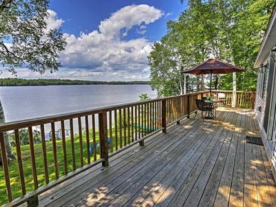 Photo for Updated Maranacook Lake Cabin w/ Dock & Deck!