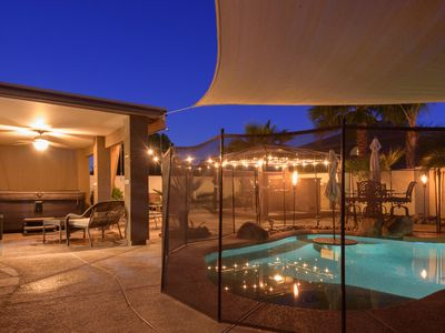 Photo for Gorgeous Resort Style Home: Free Heated Pool! Spa, Gazebo, Pool Table