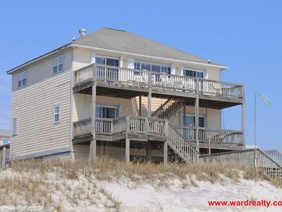 Photo for Enjoy Spectacular Sunrises at this 4 BR Oceanfront Home in North Topsail - Sundog