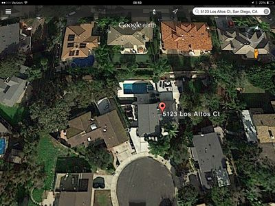 AERIAL VIEW....CK OUT GOOGLE EARTH YOURSELF...HUGE YARD AND POOL AREA