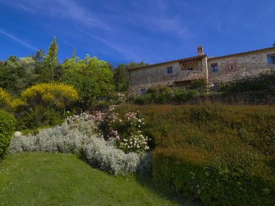 Photo for medieval apartment in the tuscany countryside with pool - 2p, first floor