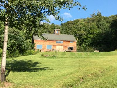 Secluded Barn on 300 private acres. Nearest neighbor at bottom of hill (0.7mile)
