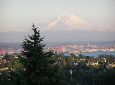 Expansive Mt. Rainier view--on a clear day!