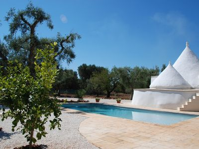 Photo for Puglia, restored trullo with private swimming pool in southern Italy