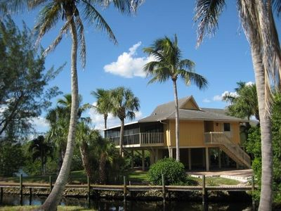 Key West Style Condo sits quietly on Fish Trap Bay near Bonita Beach.