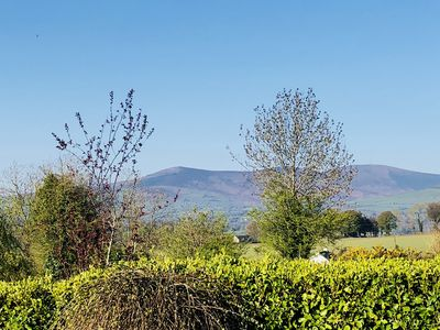Early morning view from house across to Mt Leinster