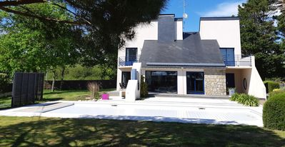 Photo for House sea view 80m from the beach with heated pool and secure