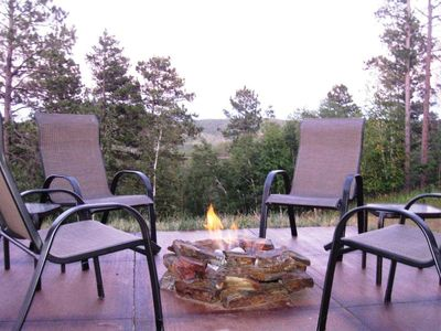Photo for Aly's Getaway Log Cabin by Deadwood: Firepit, Amazing Views, Wi-Fi, Hot Tub, A/C
