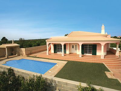 Photo for Charming villa surrounded by orchards w/ air con + pool, close to village