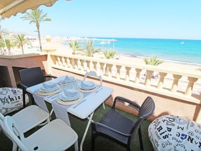 Photo for Luxury duplex penthouse facing the sea. 1st line beach