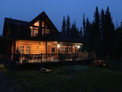 Photo for Custom built log home surrounded by lakes