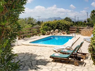 Photo for Fabulous 3 bedroomed, 2 bath Country Villa with private pool.  8 k to the beach.