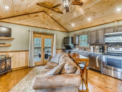 Photo for Custom-built luxury cabin w/ a private hot tub & large yard - near Blue Ridge