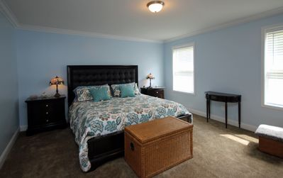 Master Bedroom - The master bedroom features this lovely king bed that you will be sure to love.