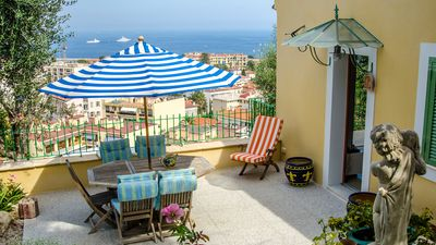 Photo for House, superb sea view between Nice and Monaco