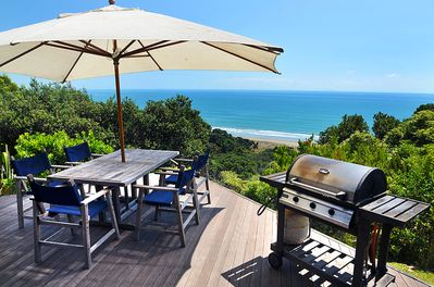 Outdoor BBQ and dining