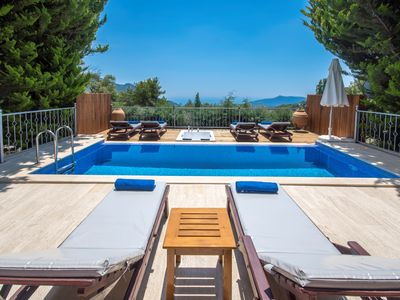 Photo for Secluded Villa for 6 in Spectacular Location, with Beautıful Large Garden & Pool