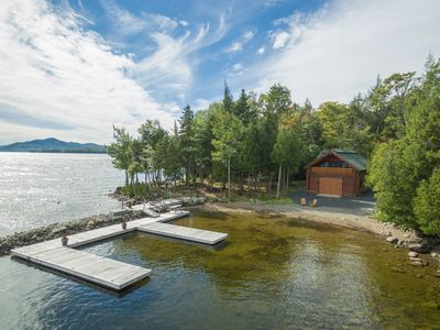 Photo for Lakefront cabin w/ private dock, beach, 2 kayaks, 2 firepits & gorgeous views!