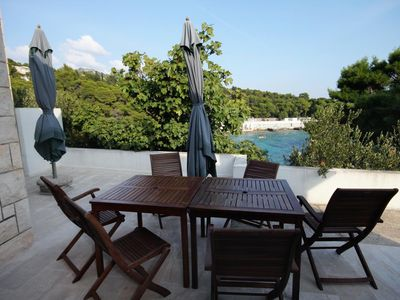 Photo for One bedroom apartment with terrace and sea view Hvar