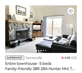Photo for 3BR Townhome Vacation Rental in Tannersville, New York