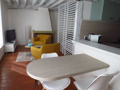 Photo for Bed in Chartres, renovated studio in the heart of the city