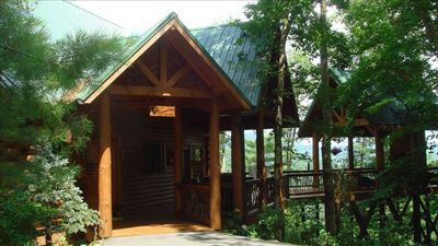 Photo for Luxury Log  Home overlooking Mtns&Lake Glenville( Highlands&Cashiers)