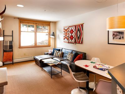 Photo for Hip Modern Condo | Ski In/Ski Out! | New Decor, New Design | Forest Views | Hot Tub